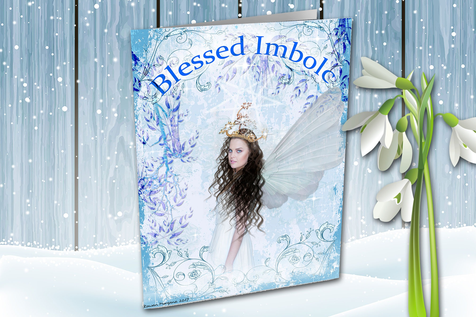 BLESSED IMBOLC Pagan Sabbat Greeting Card