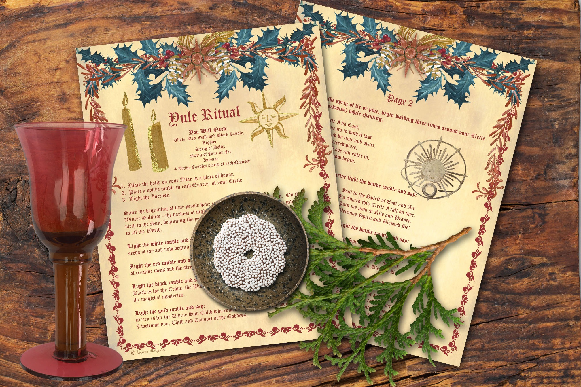YULE RITUAL - 5 Pages