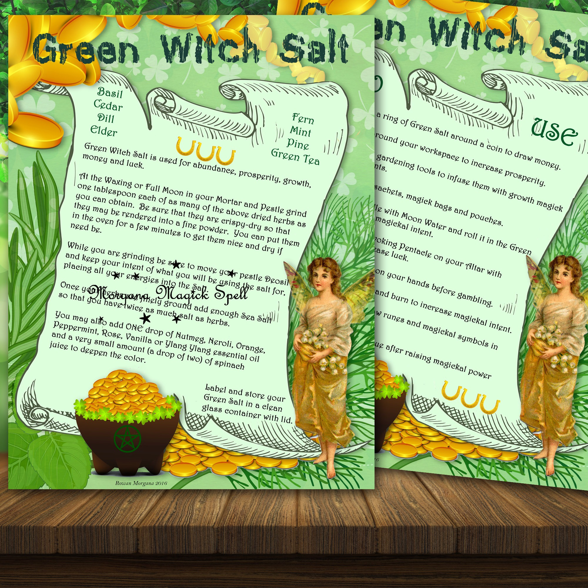GREEN WITCH SALT RECIPE- For Prosperity, Money and Luck