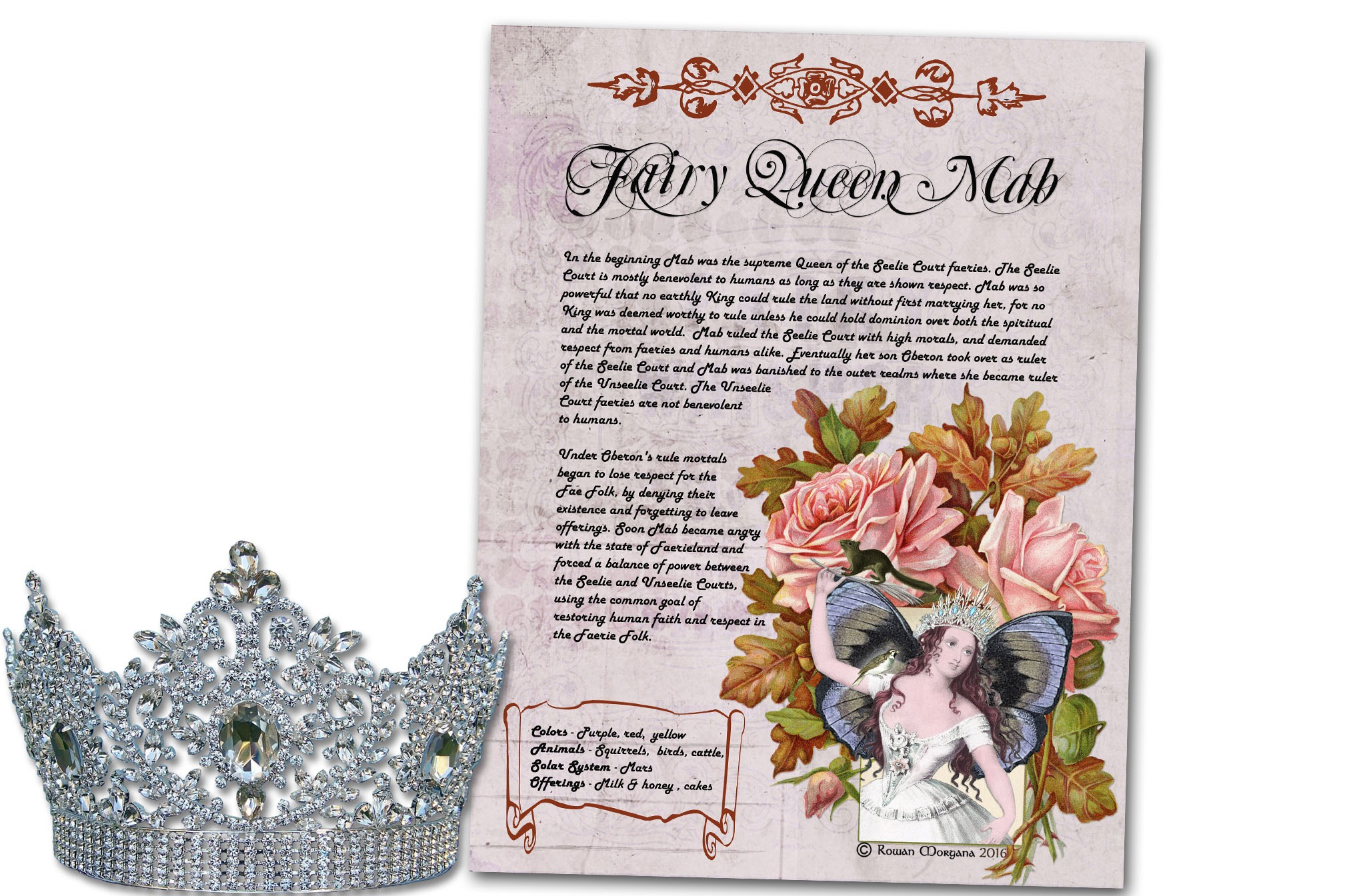 MAB the FAERIE QUEEN Realm of the Fey Lore