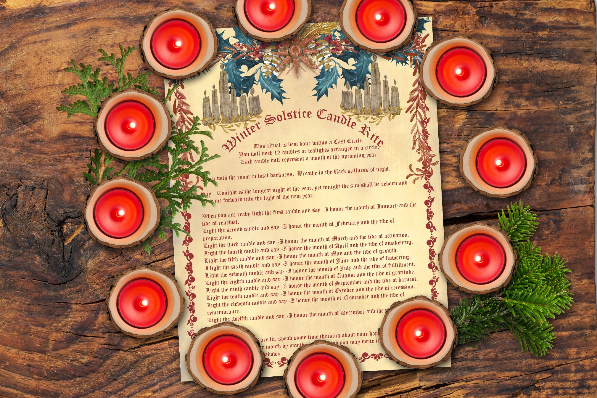 YULE CANDLE RITE a Winter Solstice Spell