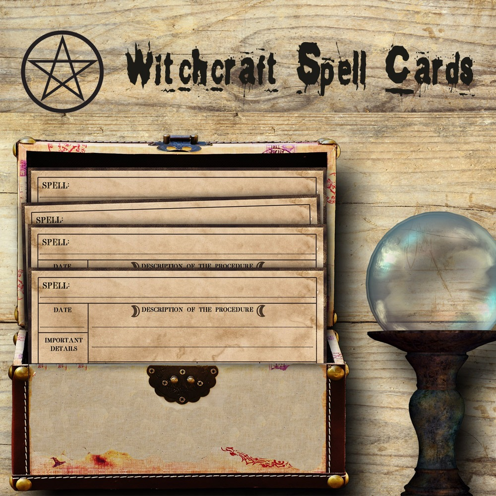 WITCHCRAFT SPELL CARDS