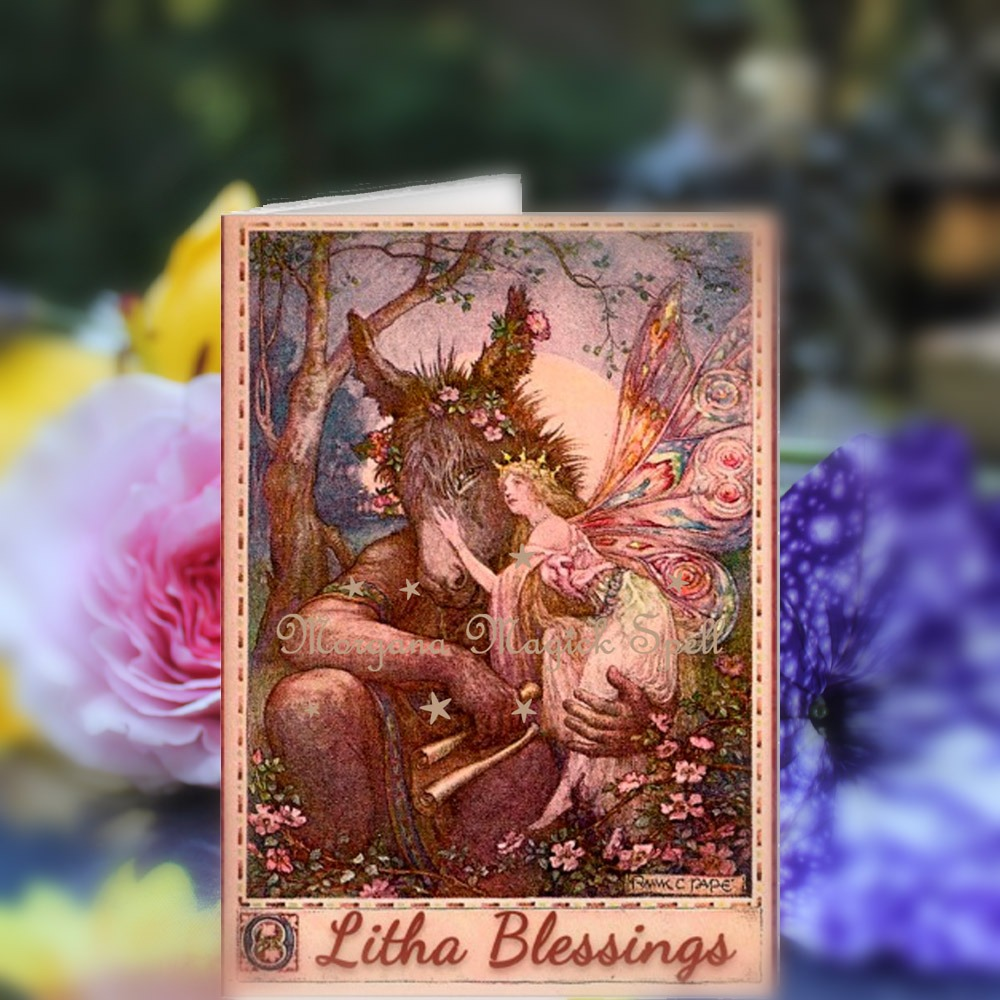 LITHA BLESSINGS Pagan Greeting Card