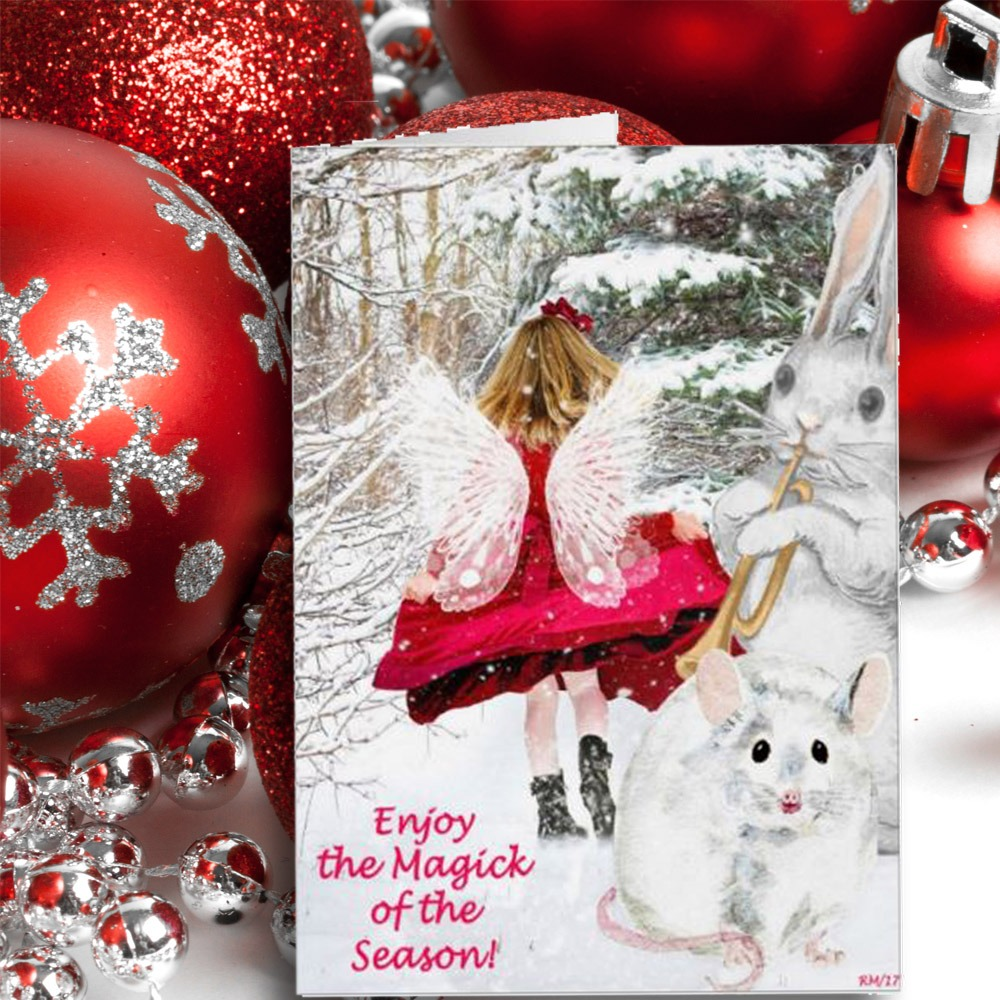 YULE FAIRY Pagan Sabbat Greeting Card