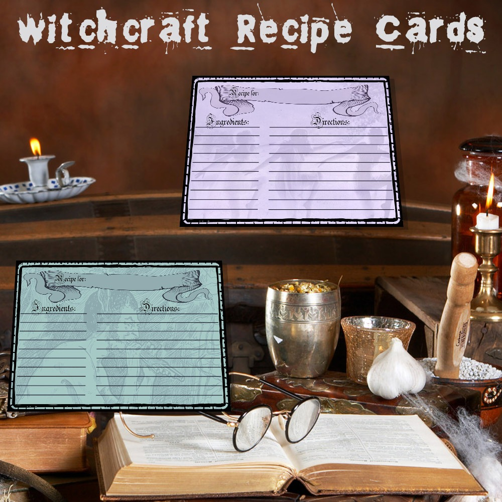 WITCHCRAFT RECIPE CARDS