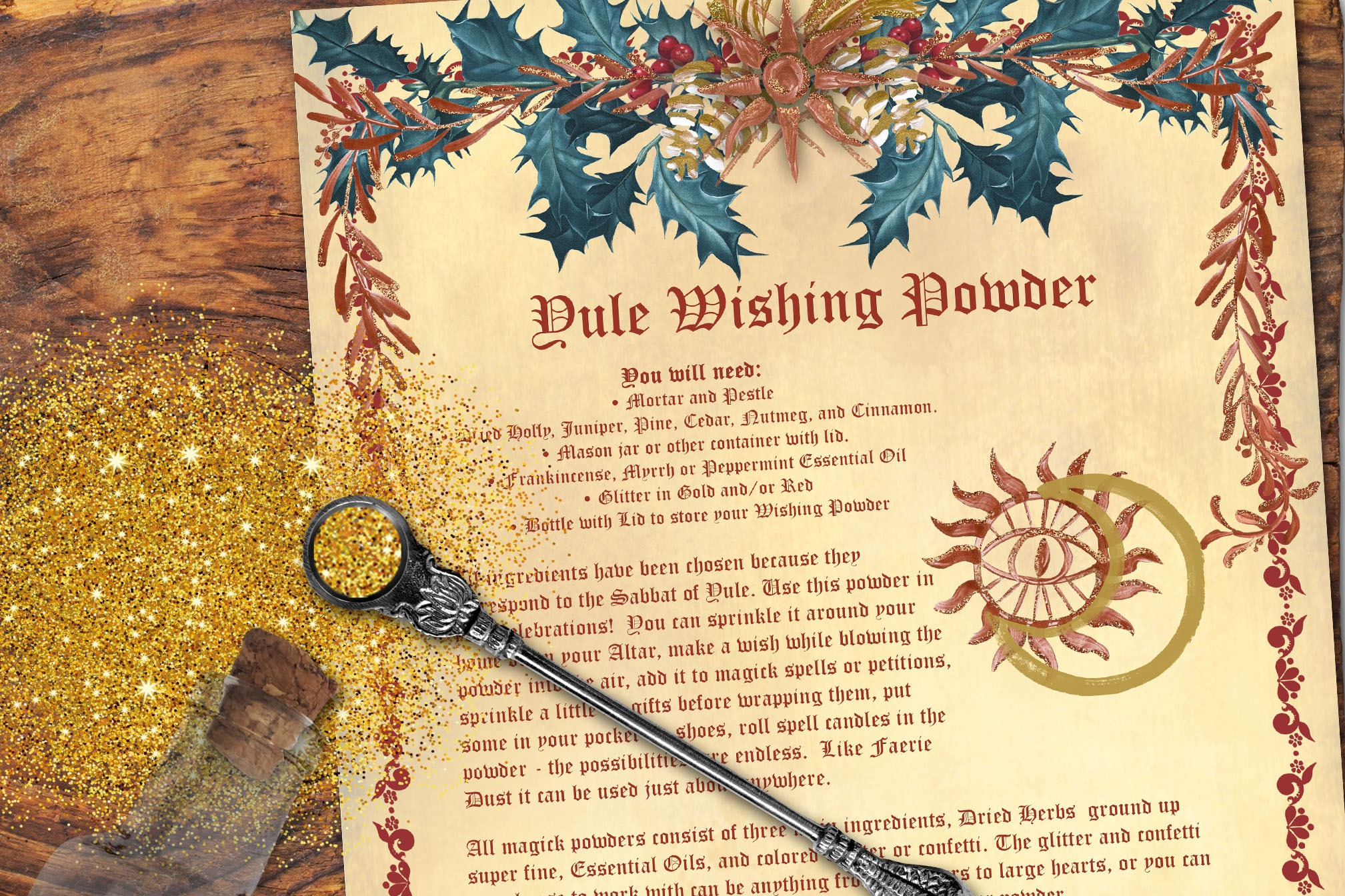 YULE WISHING POWDER - Recipe and ideas on how to use it.