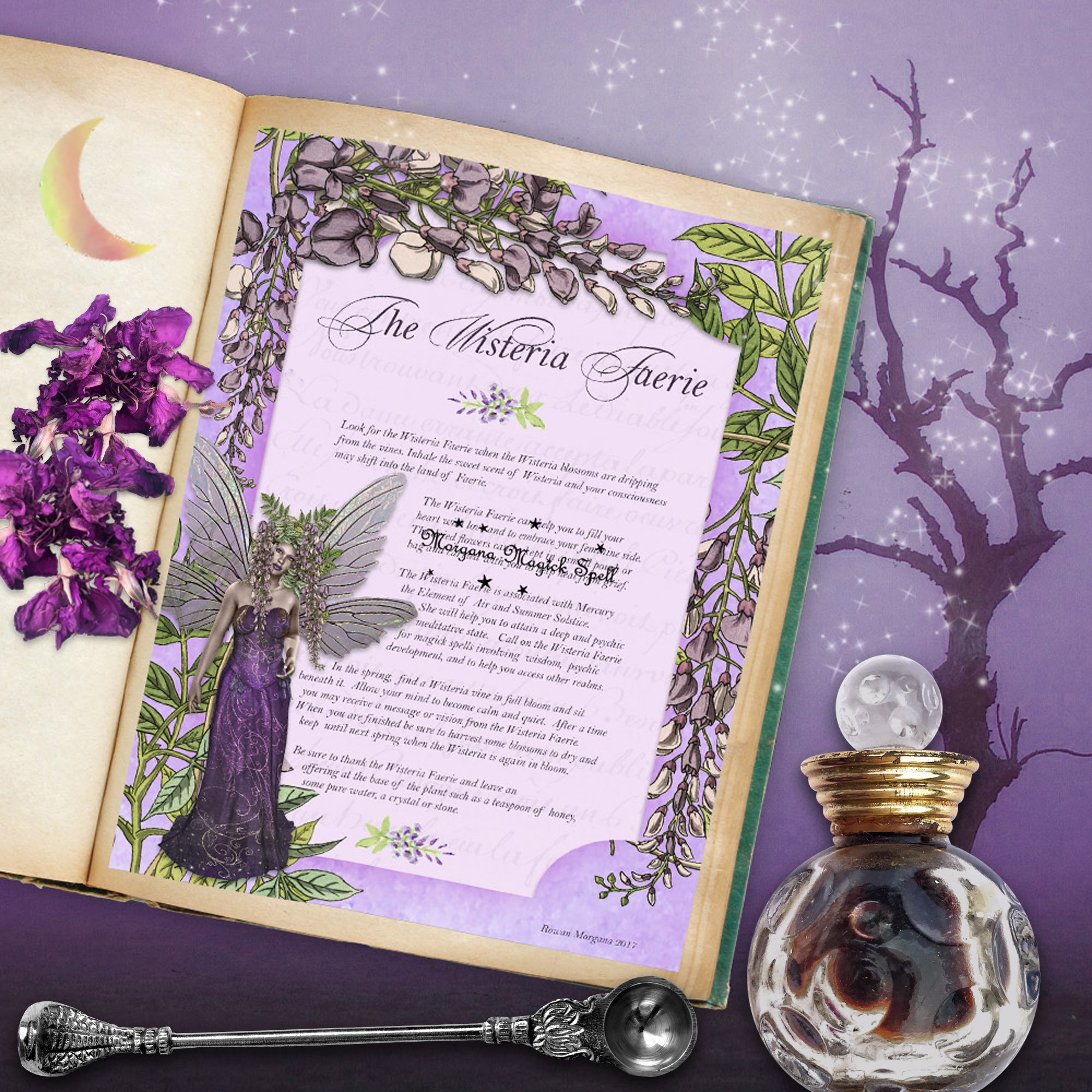 The WISTERIA FAERIE Realm of the Fey Lore