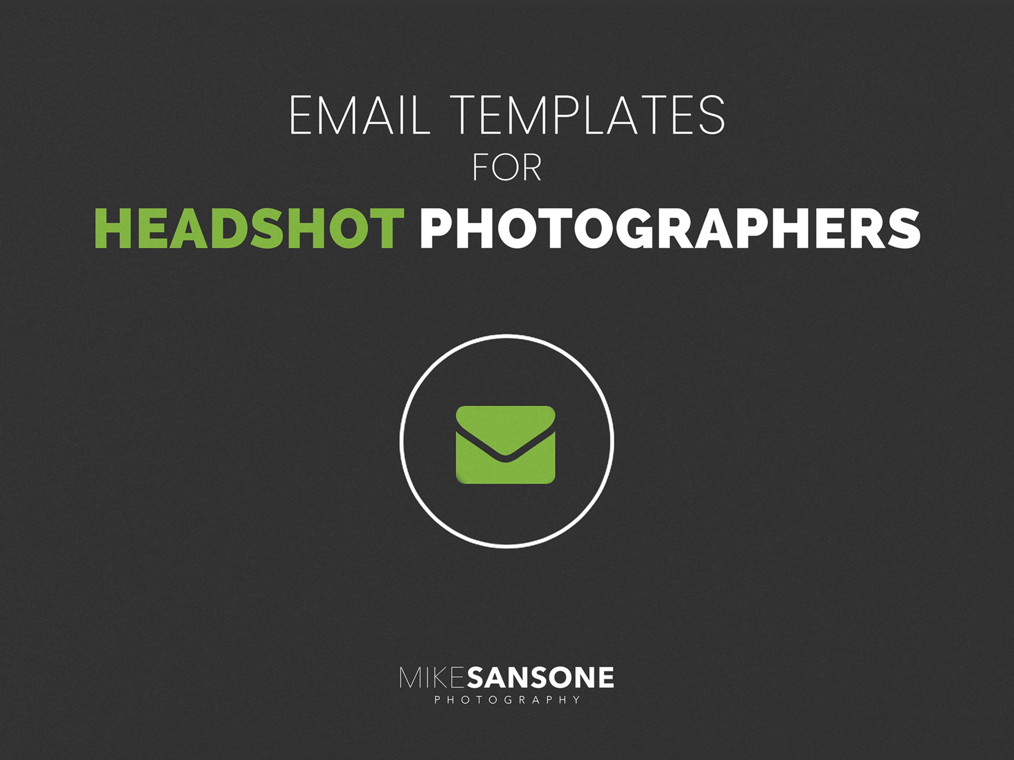 Email Templates For Headshot Photographers