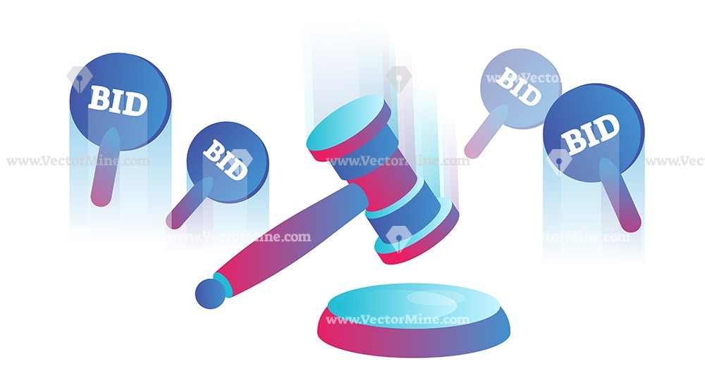 Free auctions conceptual vector illustration
