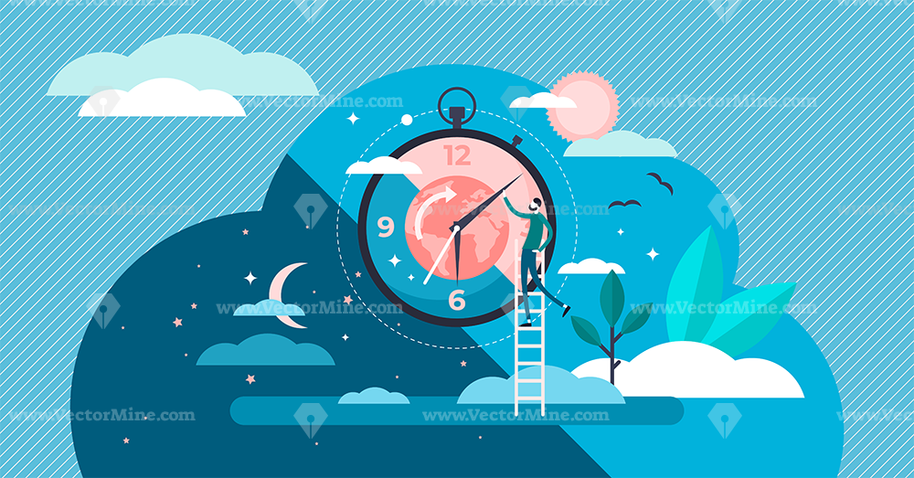 Daytime cycle concept vector illustration