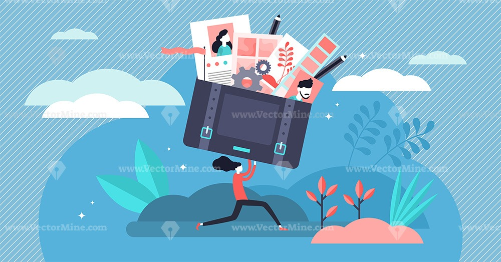 Portfolio concept vector illustration