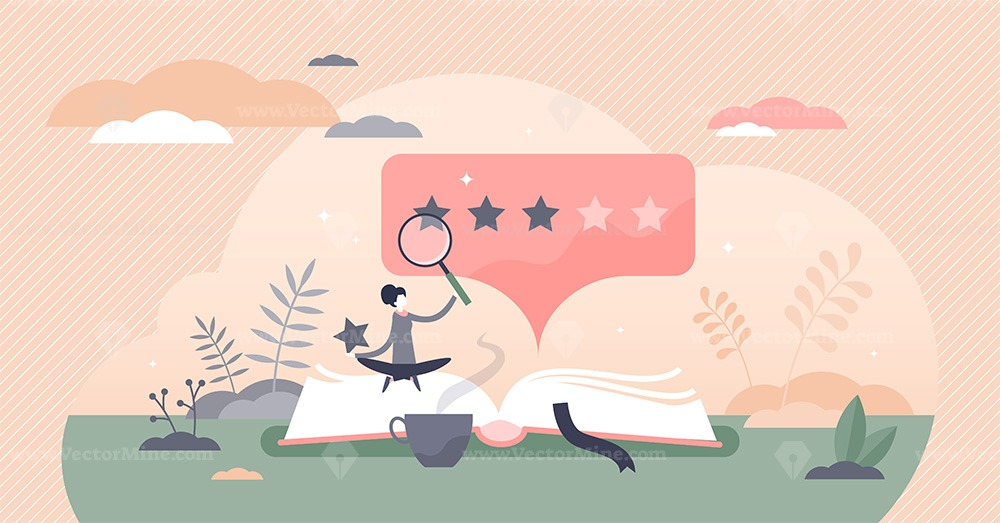 Book review vector illustration