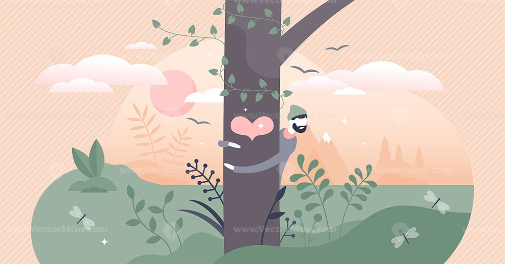 Nature lover vector illustration