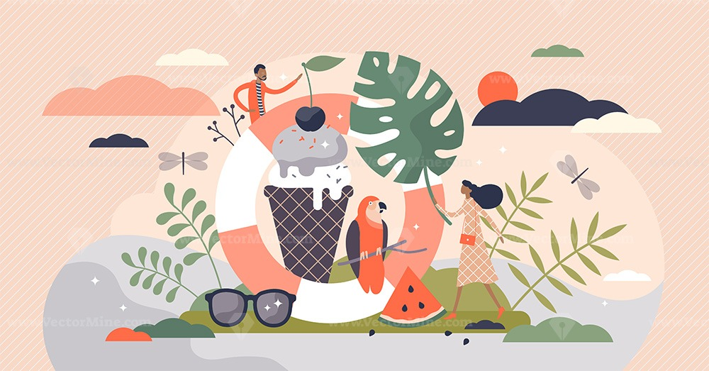 Summer vector illustration