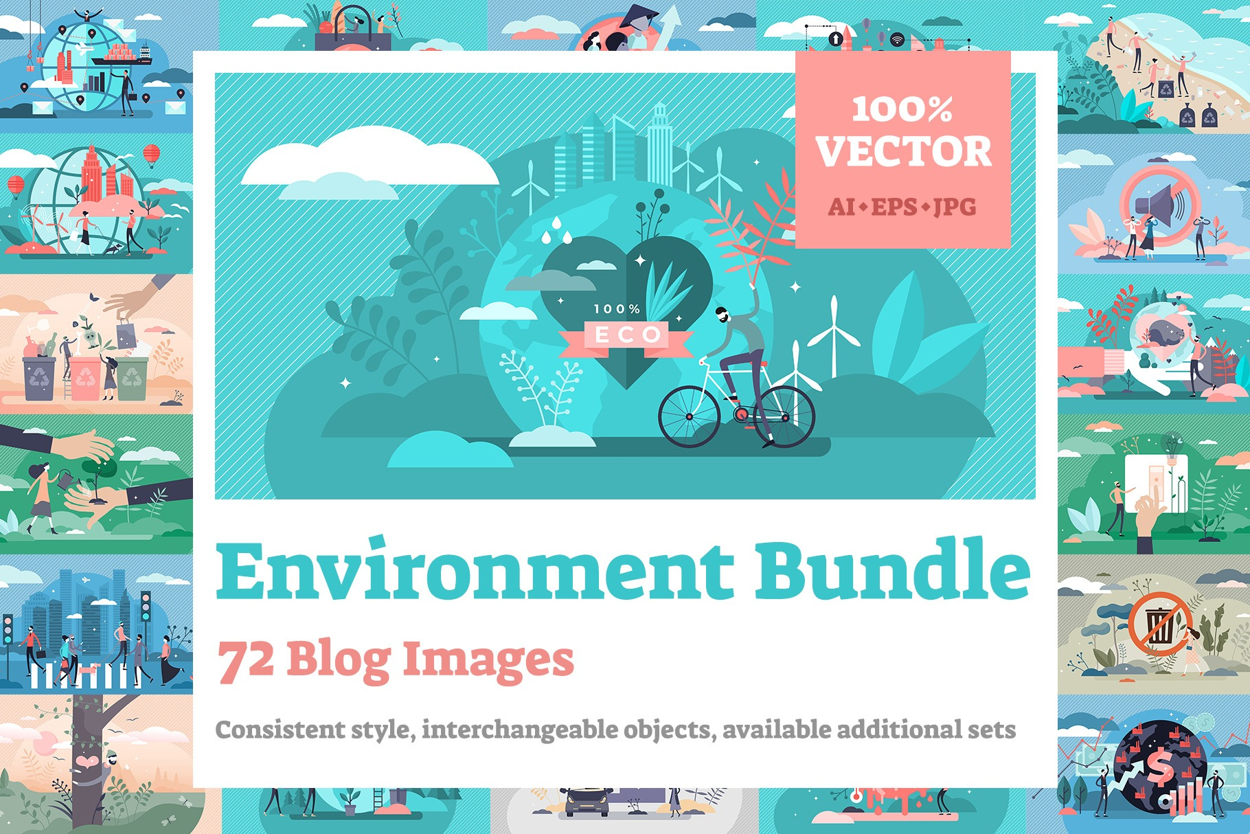 72 Environment Vector Illustrations Bundle