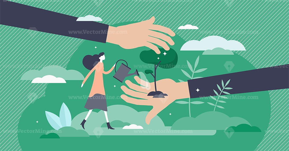 Save planet vector illustration