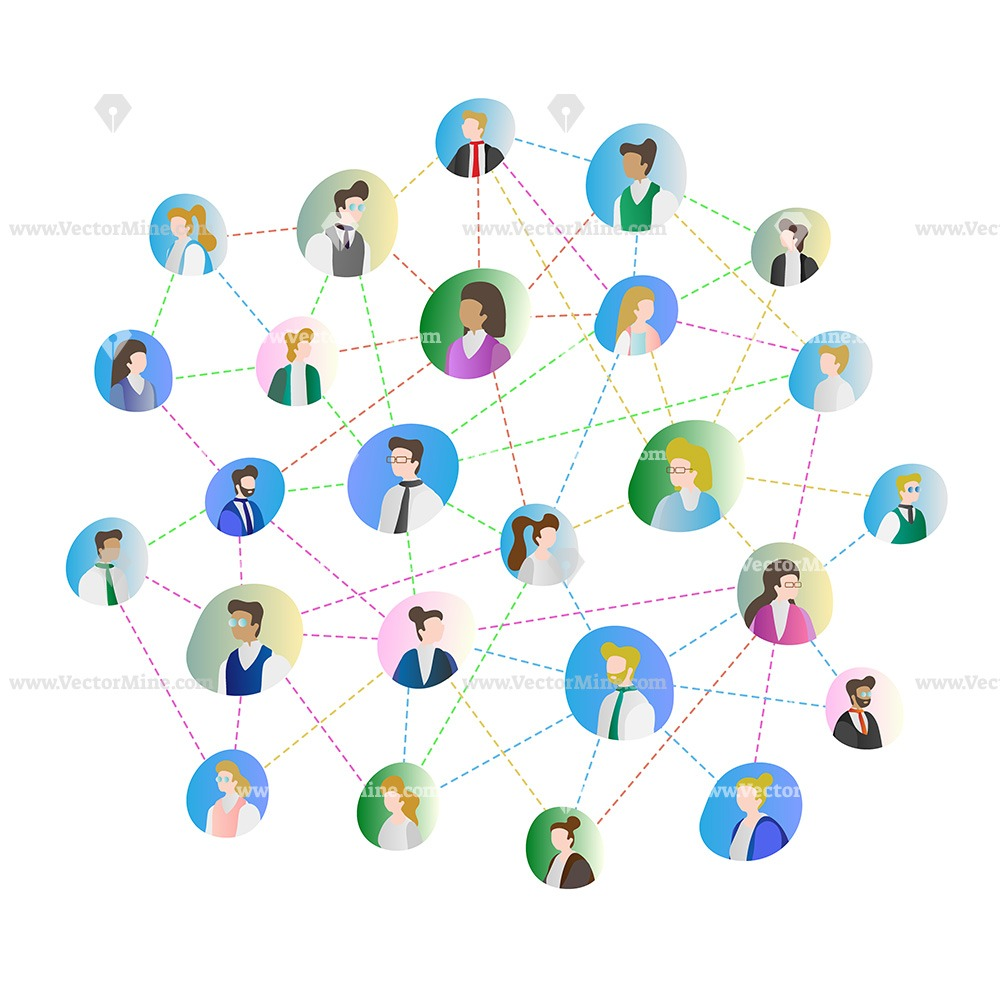 Abstract people connection concept vector illustration