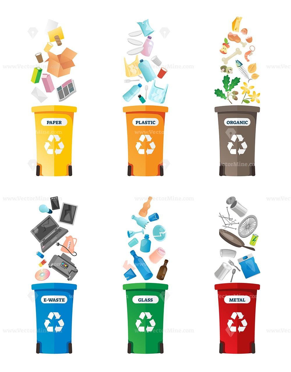 Free recycling vector illustration collection