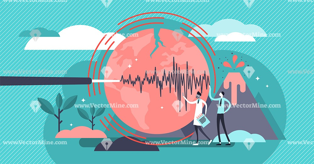 Geology scientists tiny persons concept vector illustration