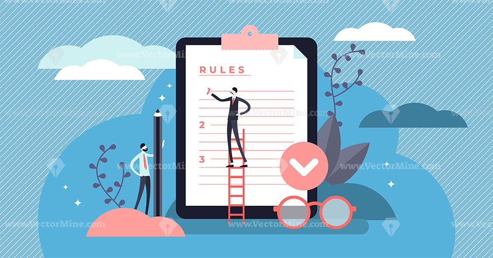 Rules vector illustration concept