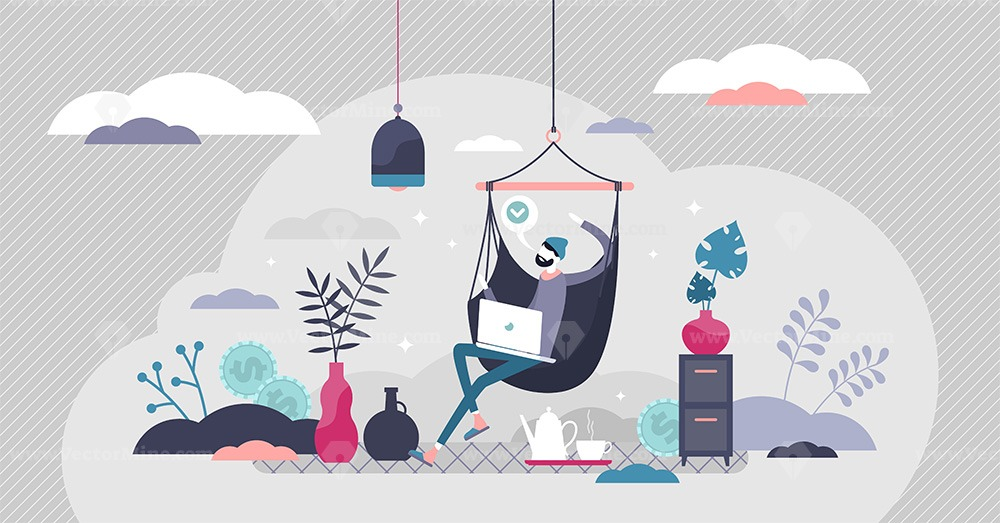Remote work vector illustration