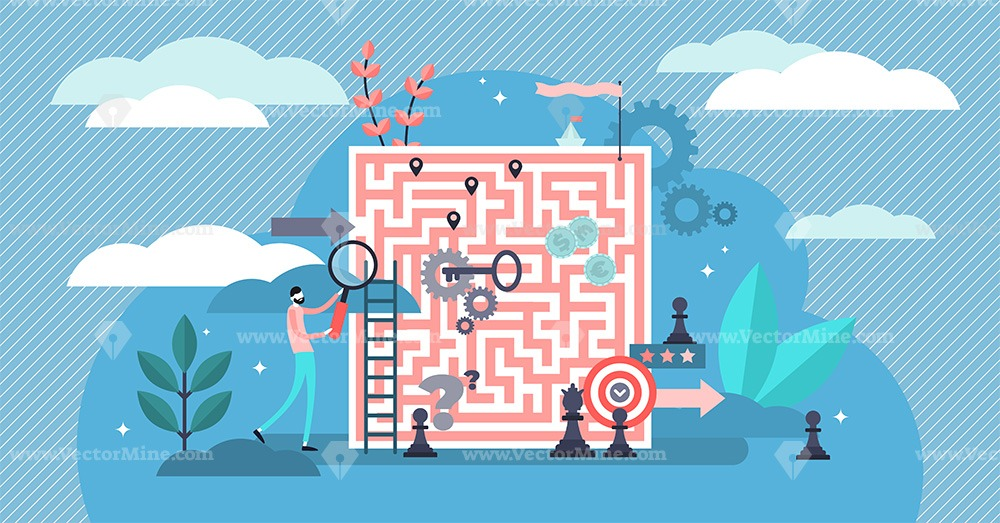 Problem solving vector illustration
