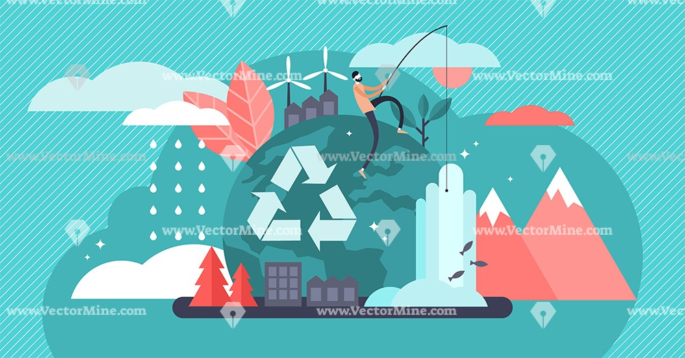 Environment tiny person concept vector illustration