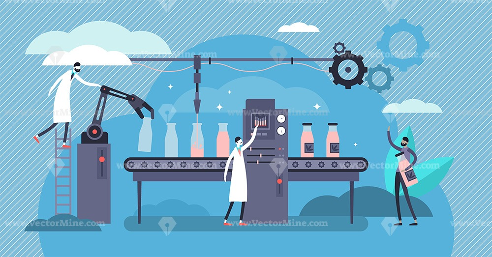 Manufacturing concept vector illustration