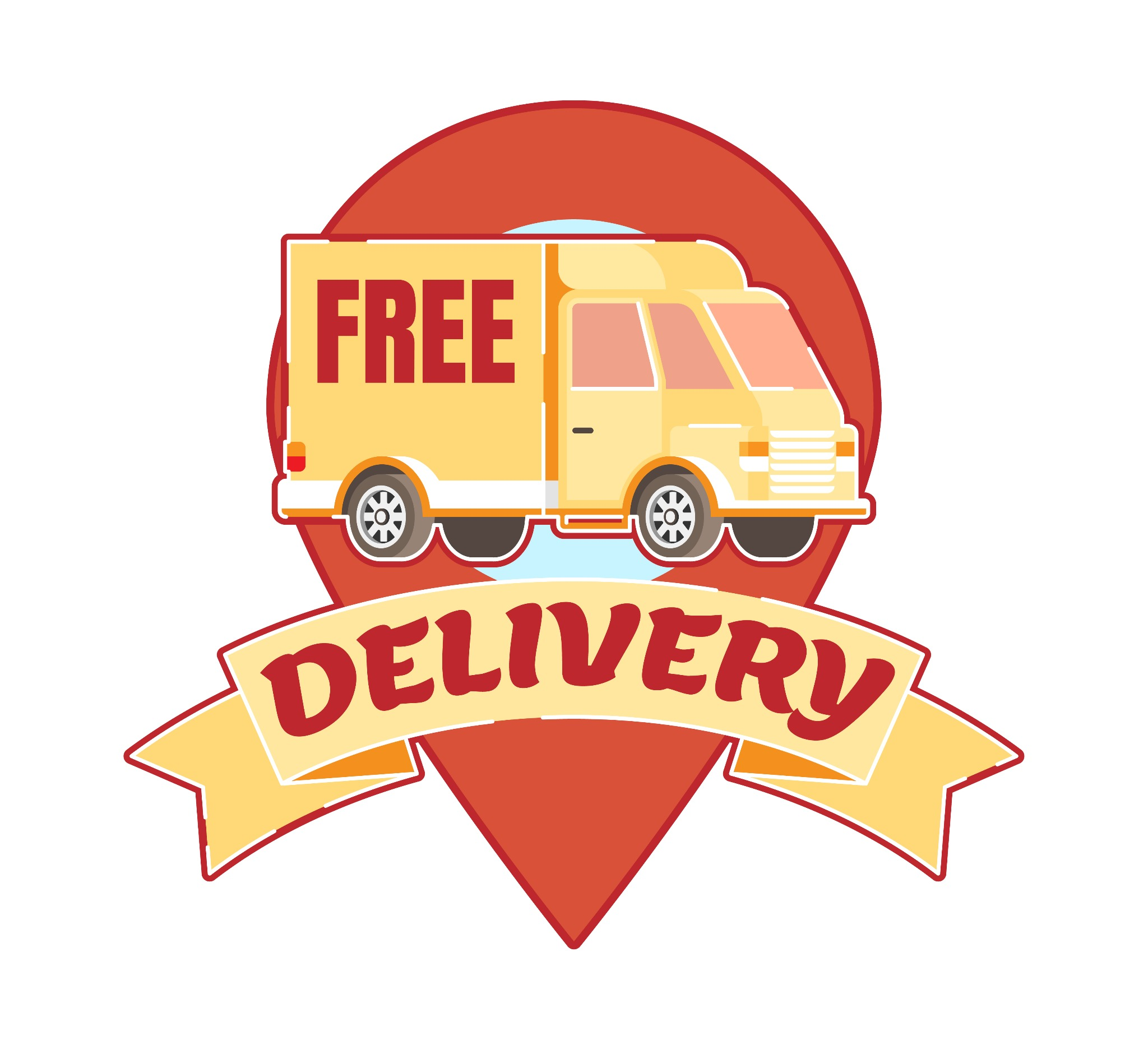Free delivery sign vector illustration