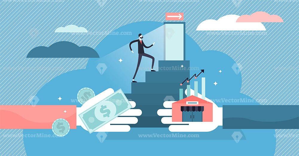 Exit business strategy vector illustration