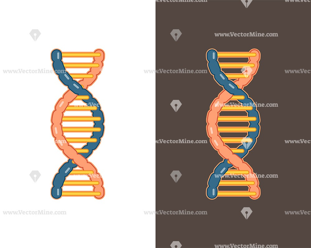 Free DNA colored vector illustration