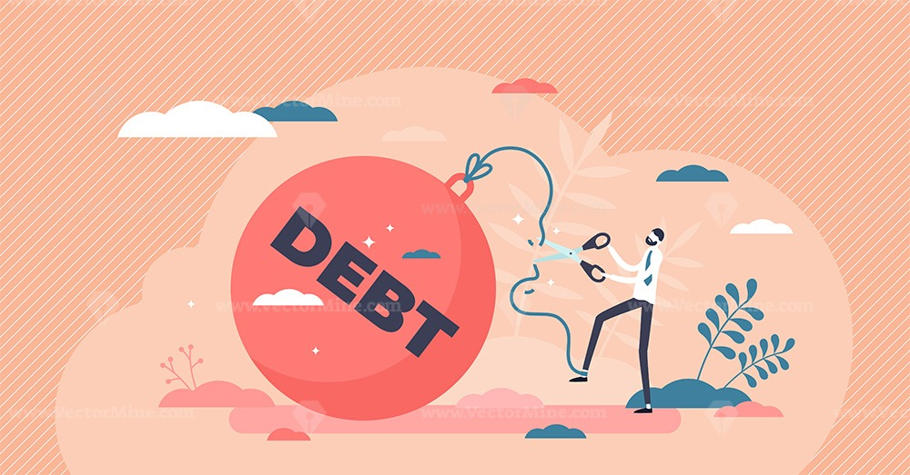 Reducing debt relief after cut financial commitments tiny person concept