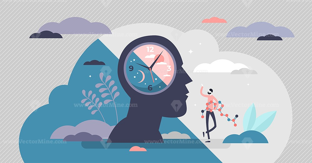 Circadian rhythm concept vector illustration