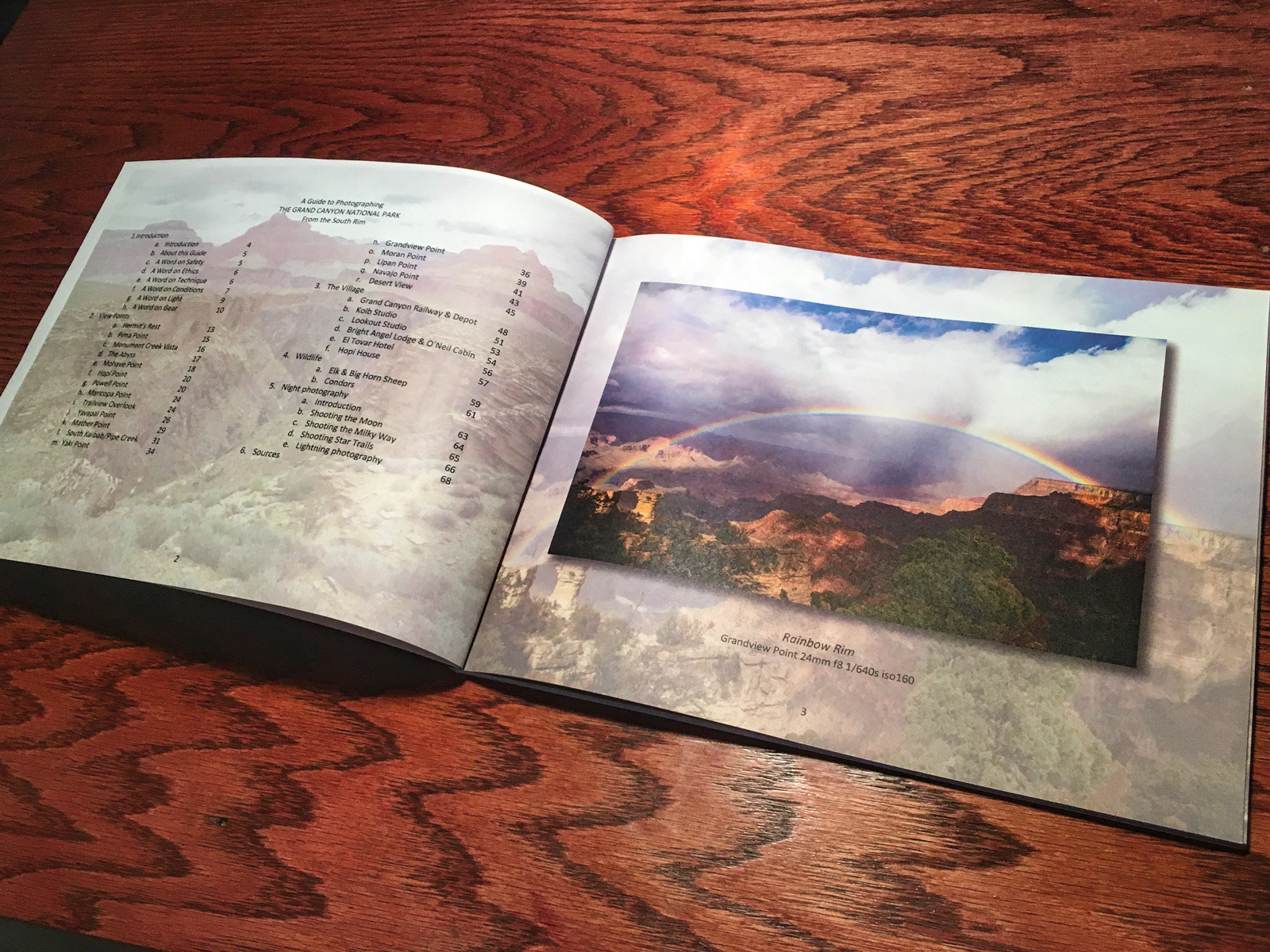 A Guide to Photographing Grand Canyon National Park from the South Rim Coffee Table Book 8.5x11