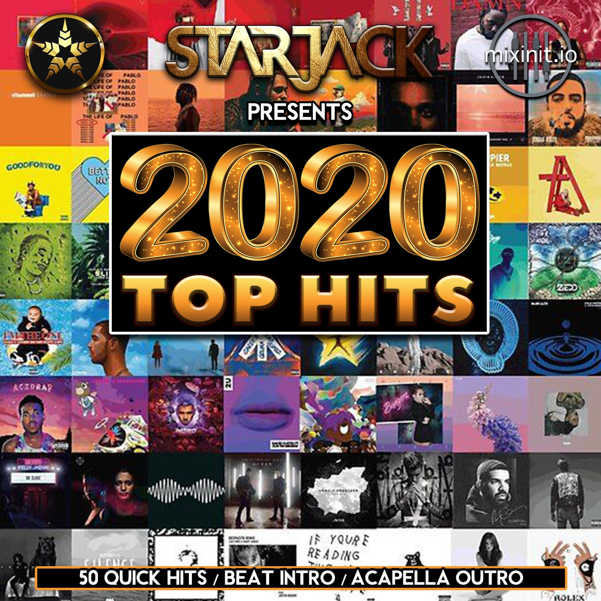 Starjack - Top Hits Of 2020 (50 Quick Hit Acapella Outs)
