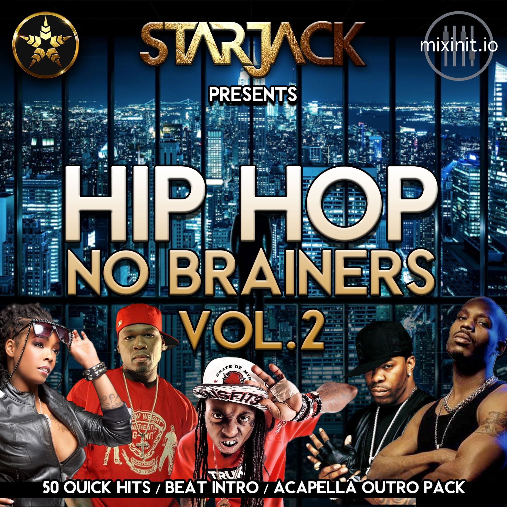 Starjack - Hip-Hop No Brainers Vol. 2 (Acapella Out's 50 Pack)