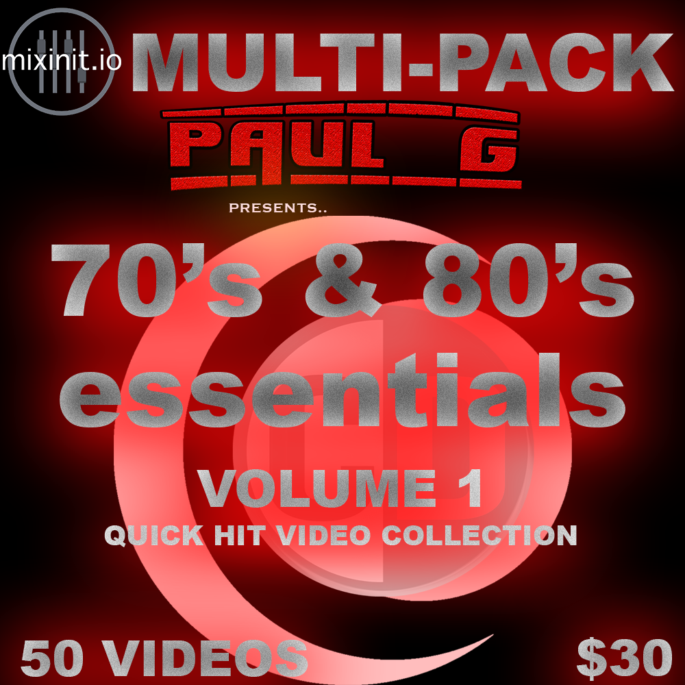 Paul G - Claudio D's 70's & 80's Essentials Vol. 1 (Video Pack)