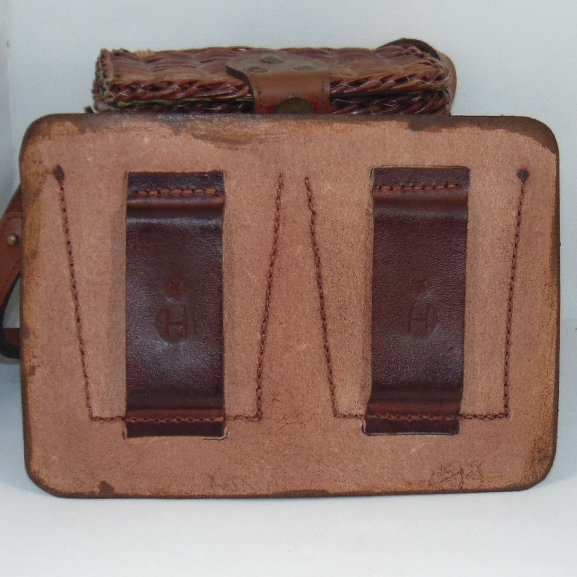 Double Ammo Pouch, handmade in leather