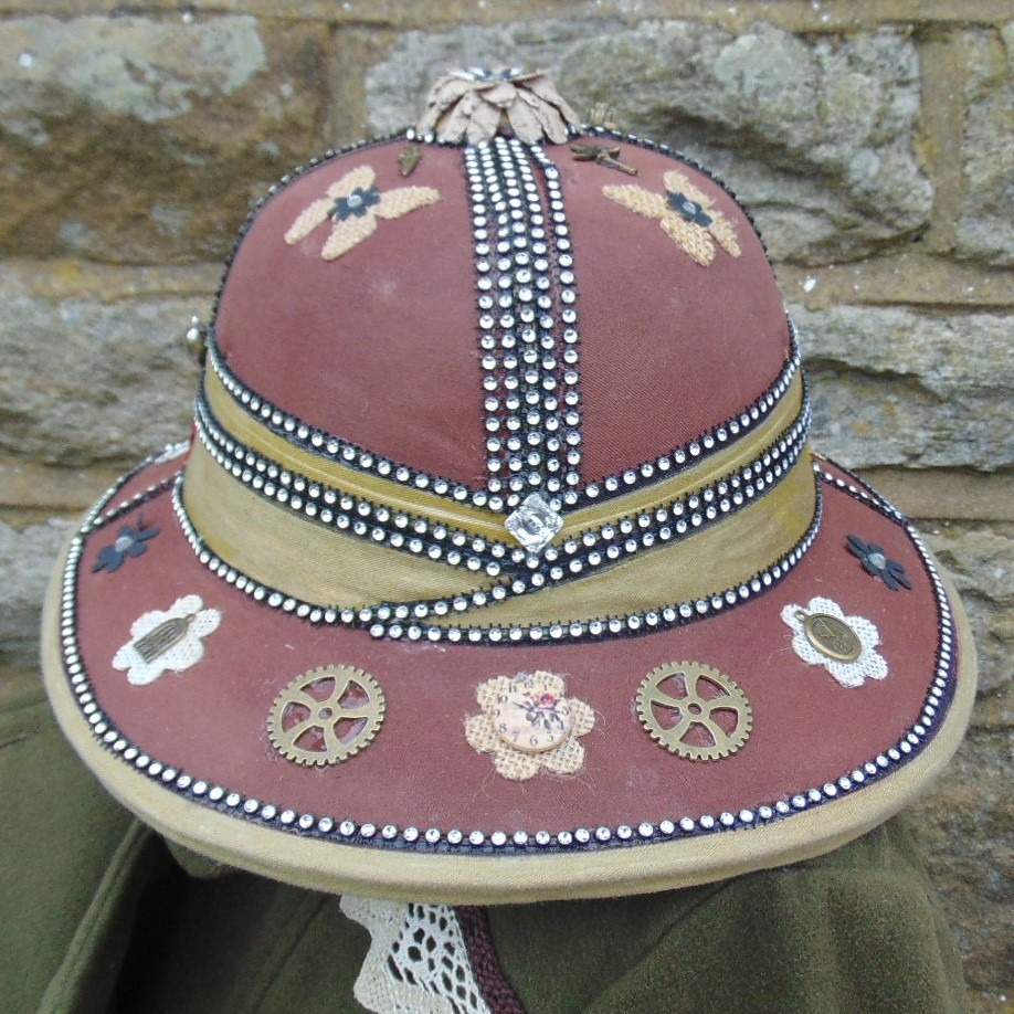 Pith Helmet - Ladies Explorer Style with Hand Applied Embellishments