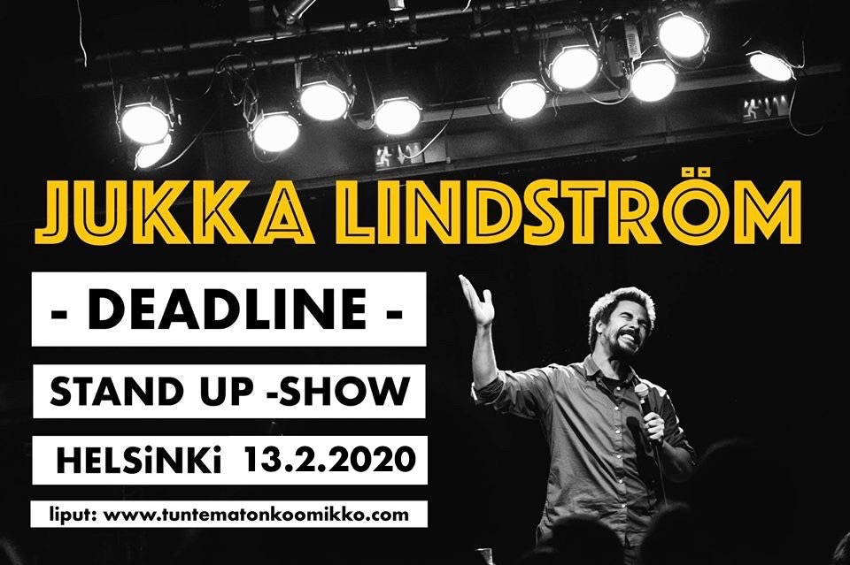 PÄÄSYLIPPU: Jukka Lindström - Stand Upin Deadline 13.2.2020 Secret Comedy Club @ Bar Base