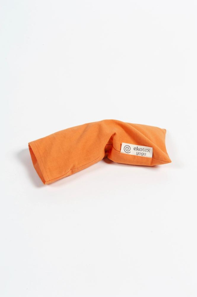 Organic Cotton Eye Pillow ( Flaxseed & Dry Lavender) Apricot