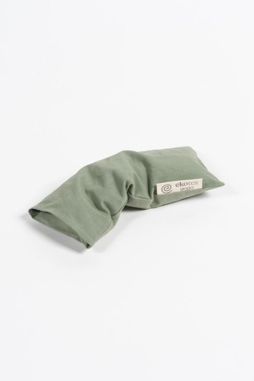 Organic Cotton Eye Pillow ( Flaxseed & Dry Lavender) Olive Leaf