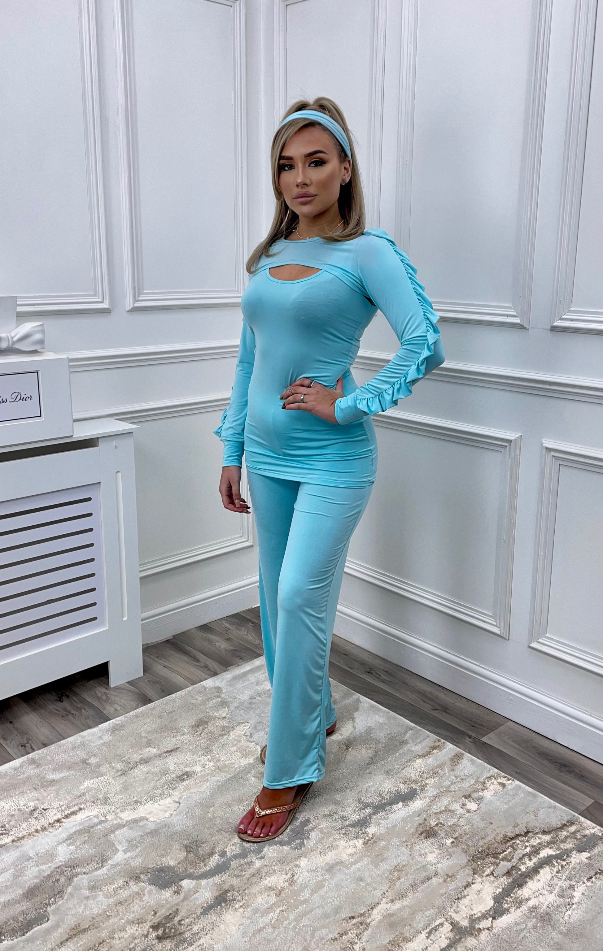 4 Pieces Luxury Body Suit Lounge Set 'Oceana'