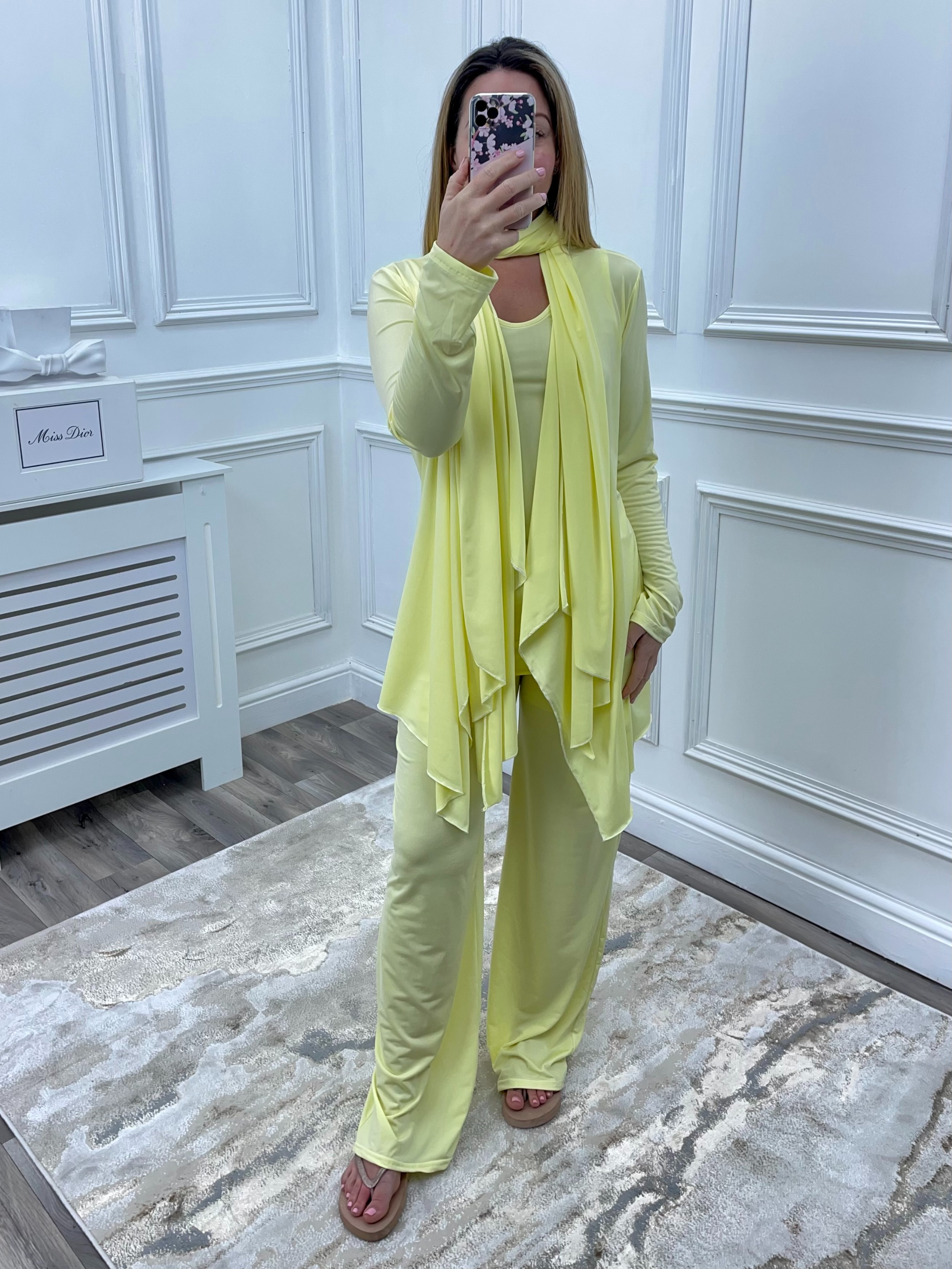 Luxury 4 Pieces Loungwear 'Monaco' Lemon