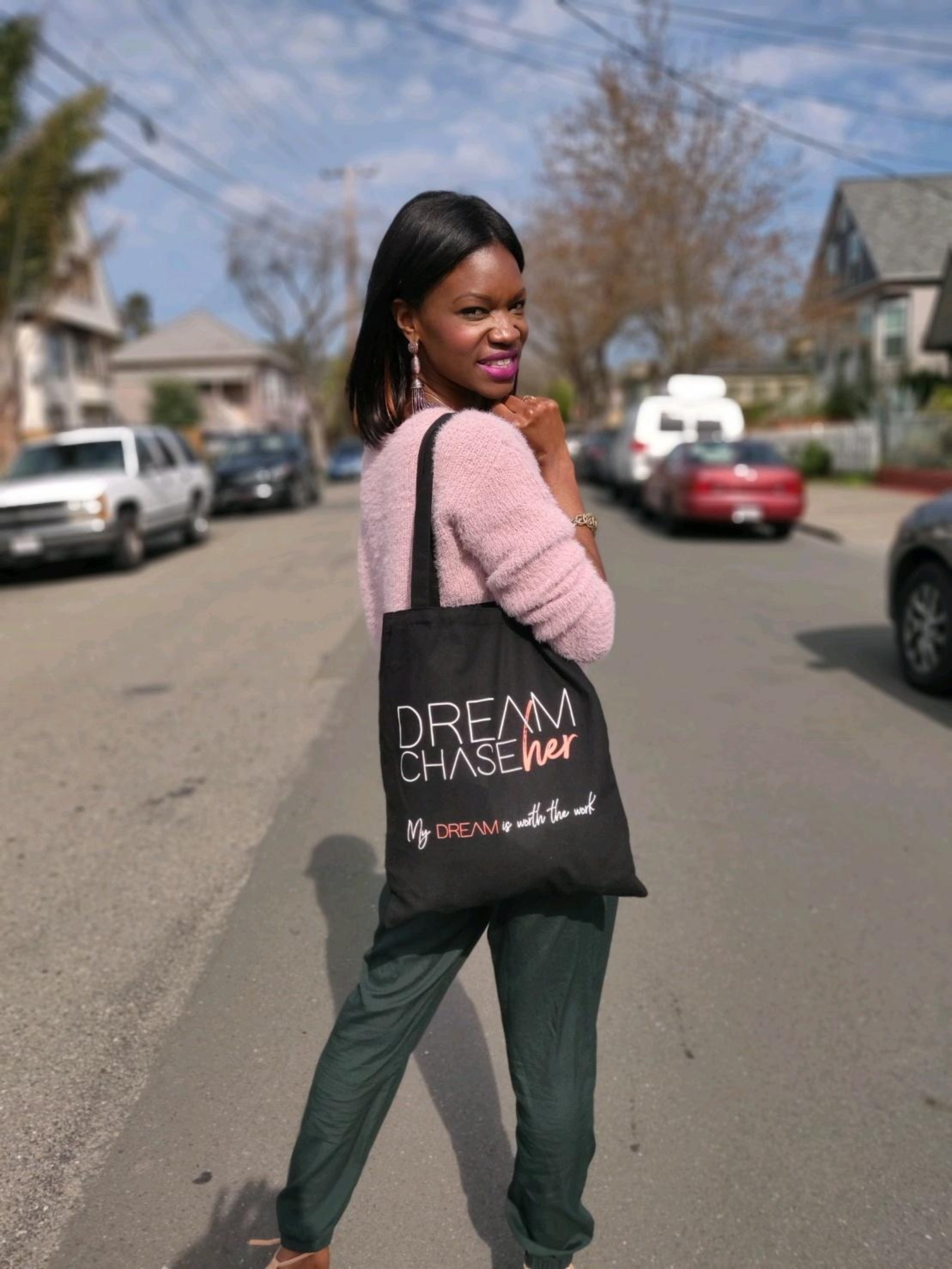 Dream ChaseHer Tote Bag