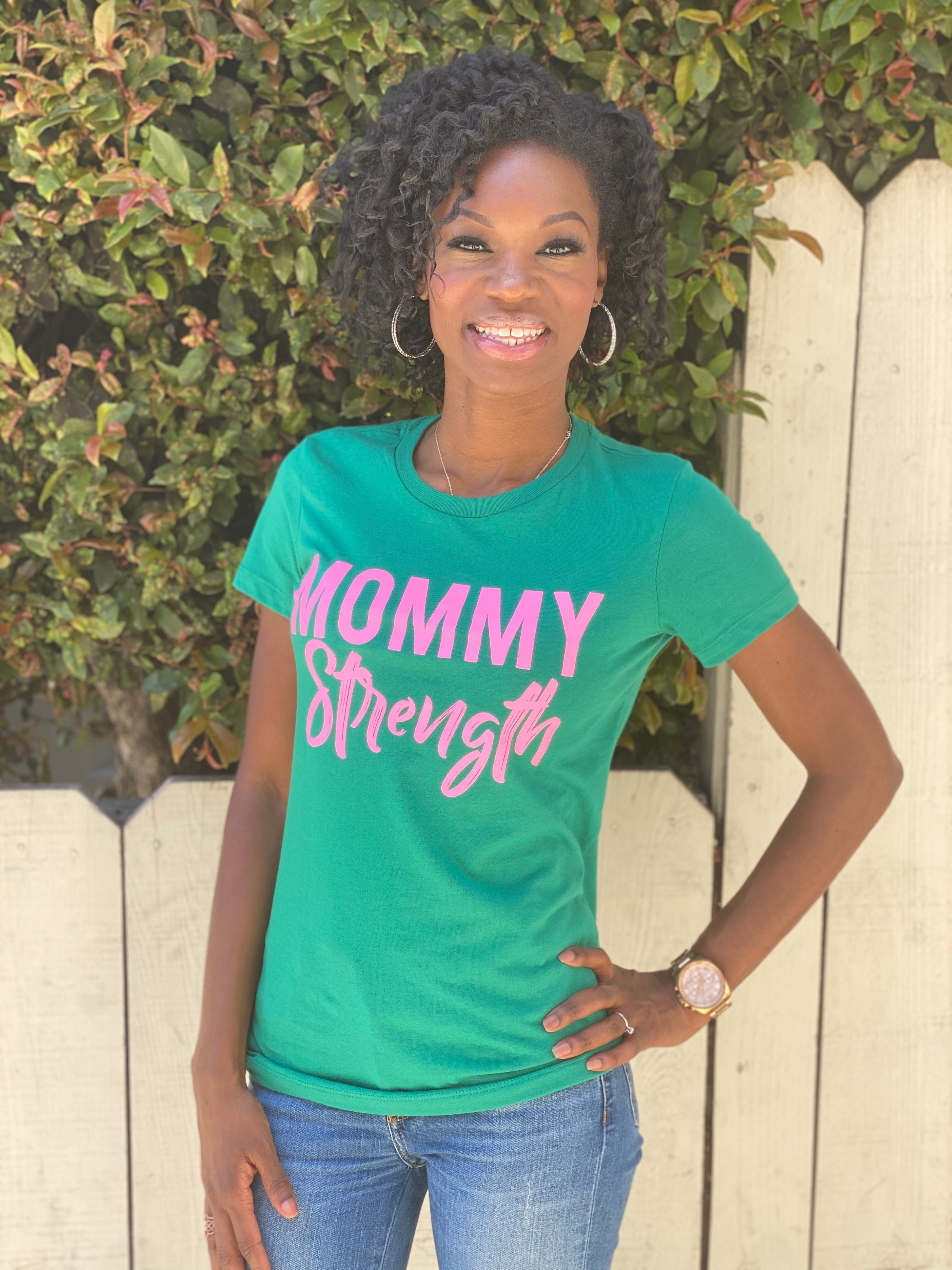 Mommy Strength (Pink & Green)