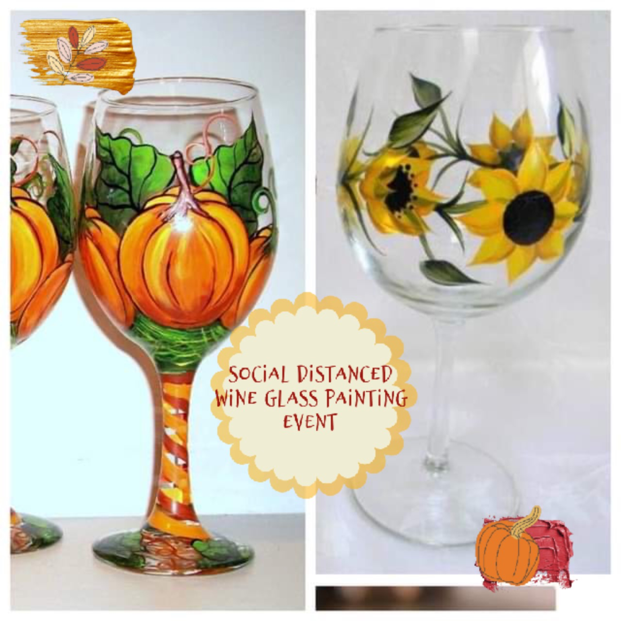 Fall Themed Wine Glass Painting Event!