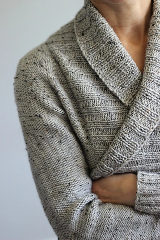 Tweedy Fog Cardigan