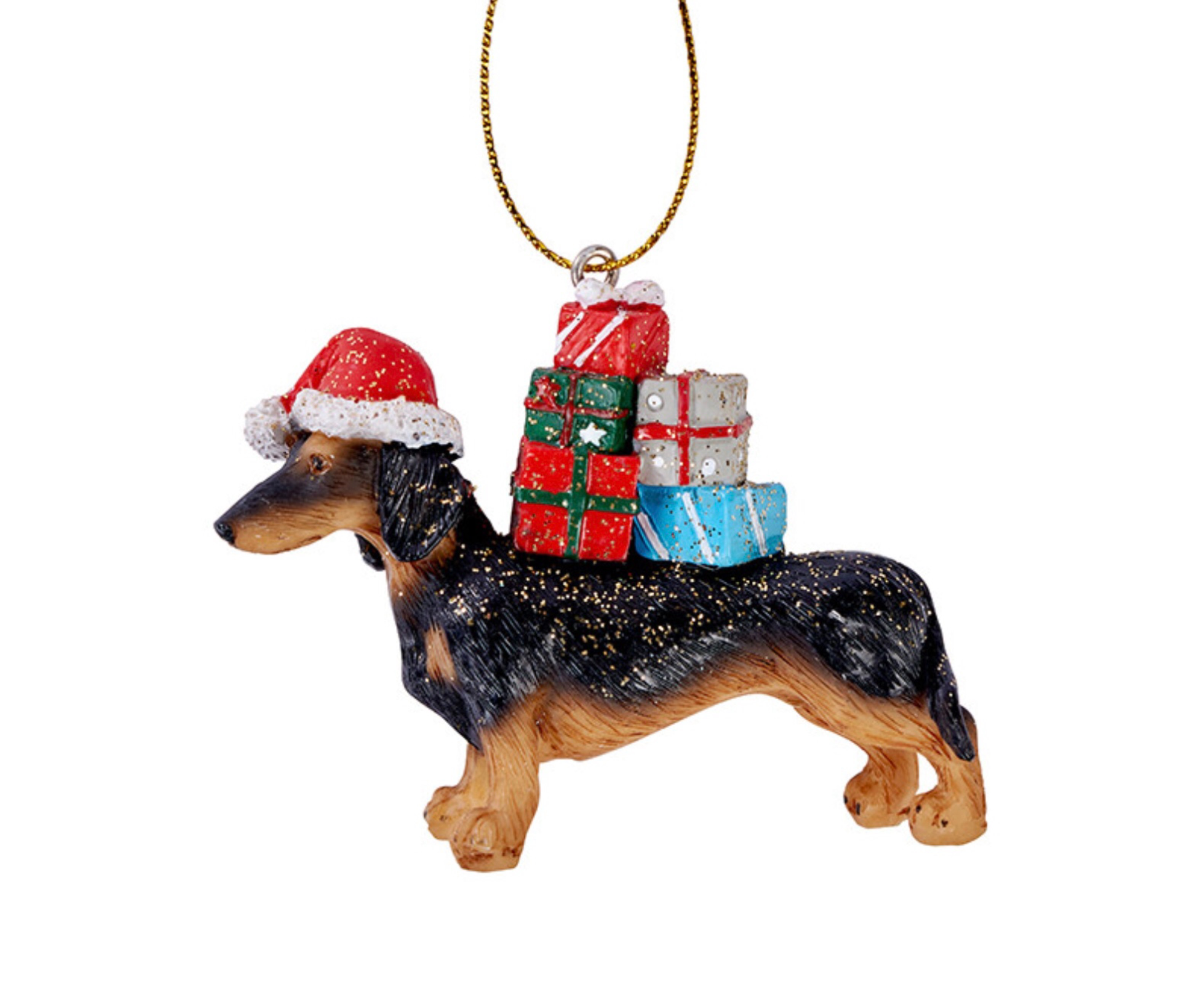 Sausage Dog with gifts