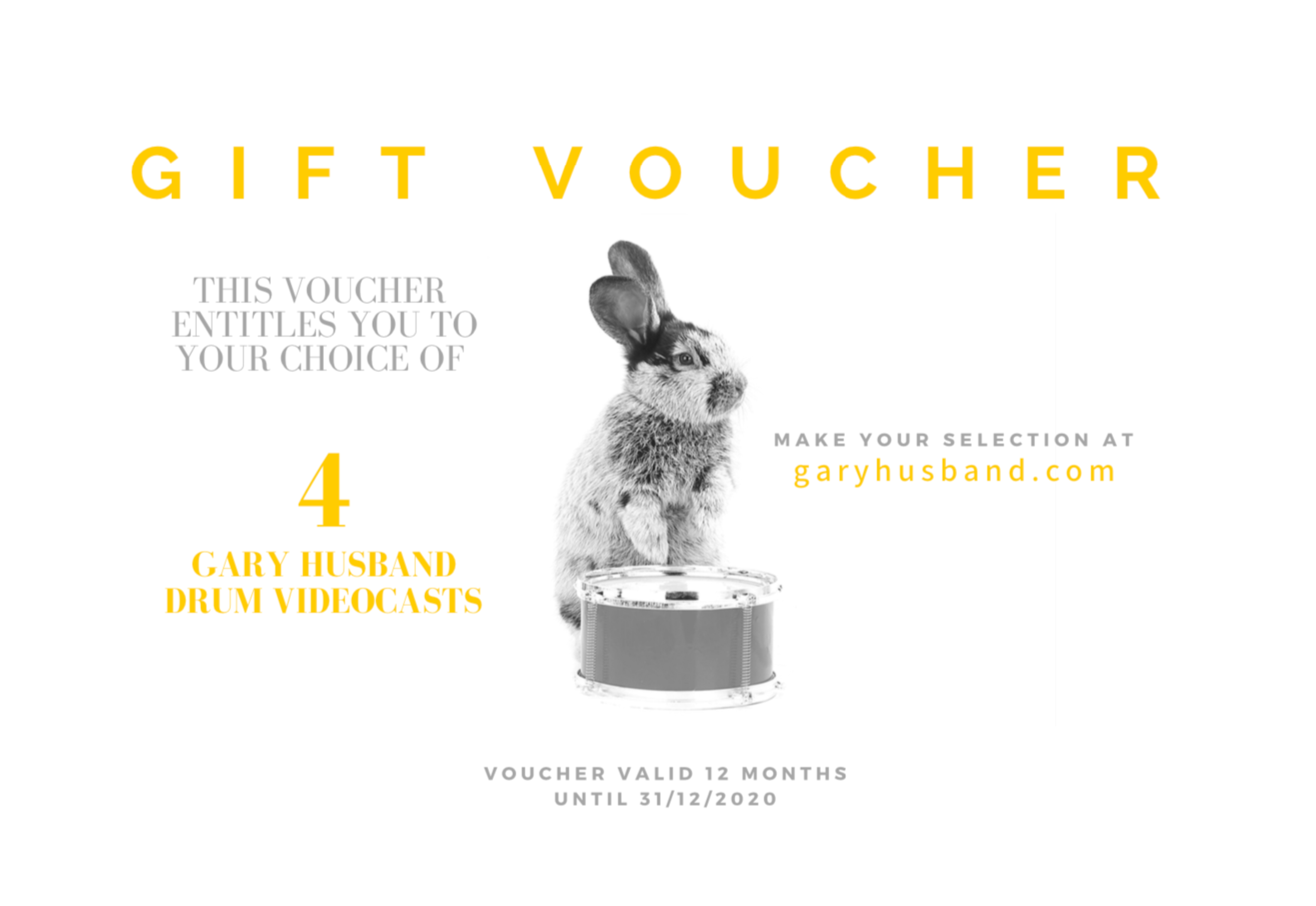 GIFT VOUCHER FOR 4 VIDEOCASTS